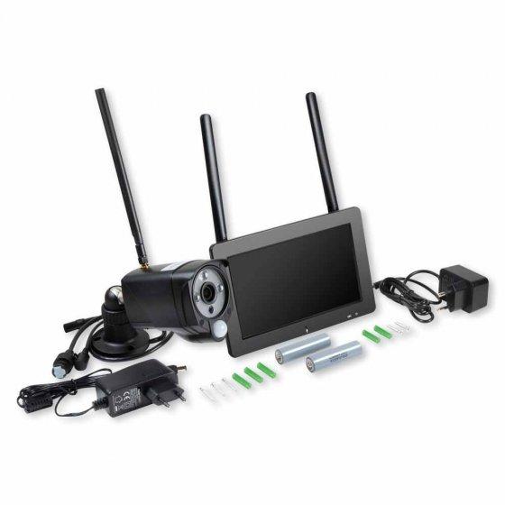 Caméra de surveillance extérieure avec écran