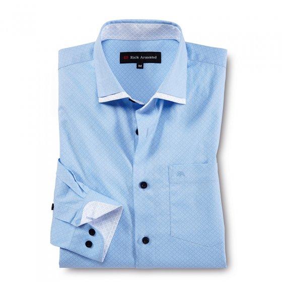 Gedessineerd stretchoverhemd