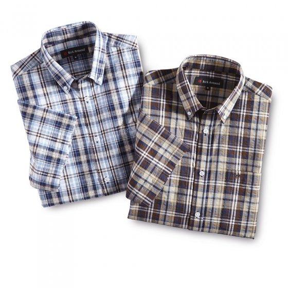 Zomers seersucker-overhemd