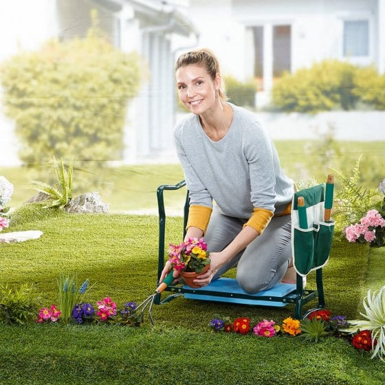 Banc de jardinage confort 2 en 1