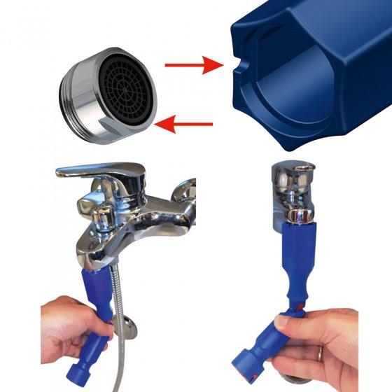 Universele montagesleutel voor toilet en sanitair