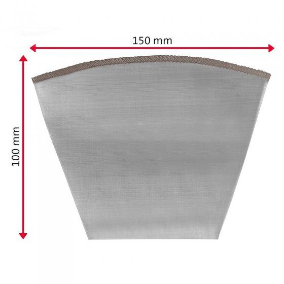 Permanente filterinzet van edelstaal