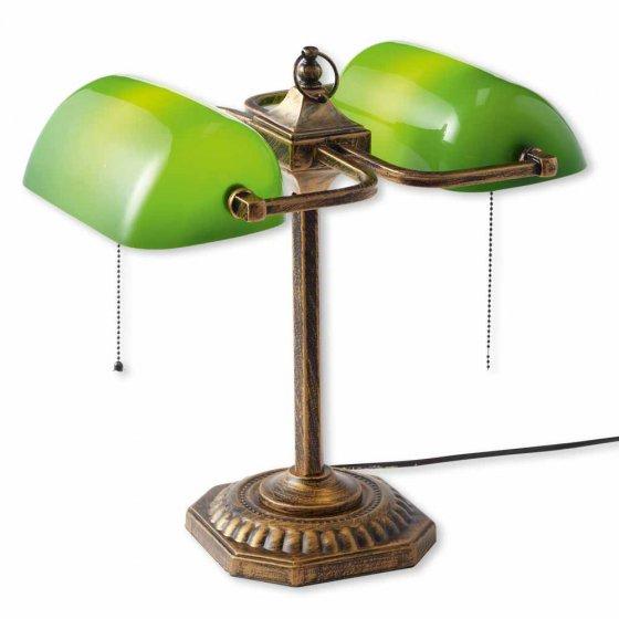 Lampe de banquier double