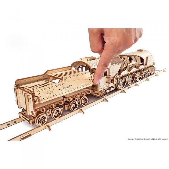 Maquette de bois locomotive et tender